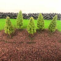 Spring Pine Plastic Trees -Model Scenery Railway Wargames Light Green Woods N OO
