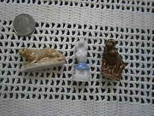 English Porcelain Miniatures WADE Circus Poodle, Monkey, Leopard