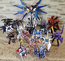 Bandai Gundam Models - Pre-Built Lot of 17 figures. Includes Original Contents