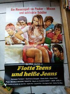 Flotte Teens und heiße Jeans-  Filmaushangplakat  ca. 84x 65 cm  -original