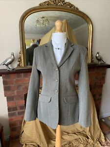 Ladies TAGG Green Keepers Wool Tweed Show/Hunt Jacket Size 36/12 Double Vents
