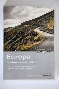 Audi RNS-E NAVIGATION PLUS SATNAV DVD 2013 a3 a4 a6 Germany France Italy UK Set