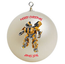 Personalized Transformers Bumblebee Christmas Ornament