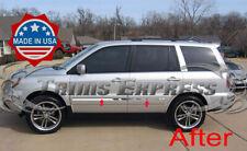 "2003-2008 Honda Pilot 4Pc Chrome Flat Body Side Molding Trim Groove Insert 5/8"""
