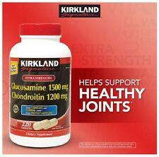 Kirkland Signature Extra Strength Glucosamine Chondroitin 220 Tablets 1200mg