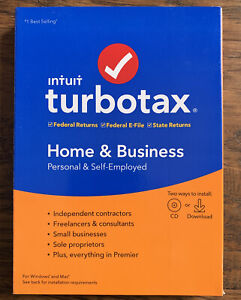 Turbotax Home And Business 2019, Brand New Free Fast Shipping