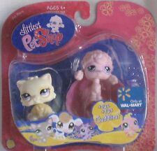 Littlest Pet Shop Exclusive Cuddliest Pet Pair Yellow Cat & Pink Poodle walmart