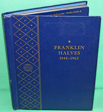 1948-1963 Silver Franklin Half Dollar 35 Coin Collection w/ Whitman Album