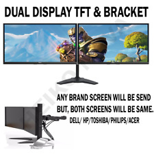"Cheap 22"" TFT Dell COMPUTER PC LAPTOP MONITOR VGA DP FLATSCREEN DUAL SCREEN"
