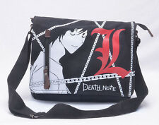 Death Note L * Lawliet doppio bottone Tela Spalla Messenger Bag