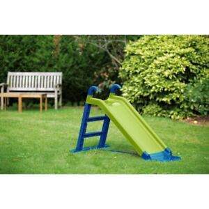 Chad Valley 4ft Kids Garden Slide - Green and Blue