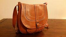Women's New Lovely Tan Brown Leather PATRICIA NASH Barcelona Saddle Hobo Handbag