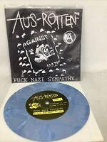 """And Rotten Fuck Nazi Sympathy 1994 7"""" 45 Anarcho Punk Rare Blue Vinyl Record"""