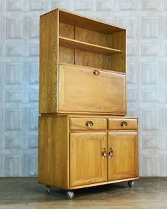 Ercol Windsor Bureau Drinks Display Cabinet / Dresser 802 + 813 *£71 DELIVERY*
