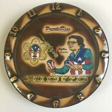 Wall Clock Wrapped In Leather With Puerto Rico Salsa Artist Hector LaVoe