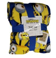 Despicable Minnions Soft Fleece Throw Cosy Blanket Home Christmas Gift Primark