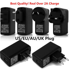 Full 2A EU/US/AU/UK Plug USB Home Travel AC Fast Charger Power Adapter Universal
