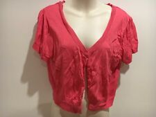 Jay jays pink crop cardie size L (Some piling)