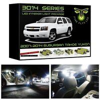 14 White LED interior lights package kit for 2007-2014 Chevrolet Suburban Tahoe