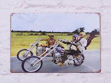 Motorcycle Art Poster Vintage Metal Tin Signs Home Pub Bar Man Cave Wall Decor