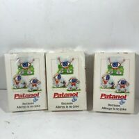 Set of 3 Decks of Advertising Playing Cards Patanol Allergy