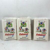 Set of 3 Decks of Advertising Playing Cards Patanol Allergy