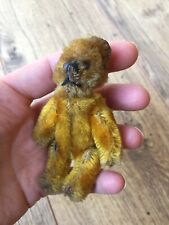 More details for schuco tiny teddy bear ?lipstick bear gold mohair made in germany c1920