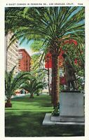 Postcard The Quiet Corner in Pershing Square Los Angeles CA