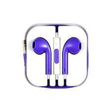 PURPLE Headphones For Iphone Earphone Handsfree Mic For EarPods SONY HTC SAMSUNG