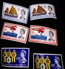 1963 Britain Life Boat Conference Mnh Stamps