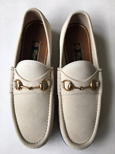 GUCCI Mens 1953 Roos Horsebit Sand Suede Leather Loafers UK 10, US 10.5 $750