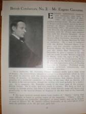 Photo & article Conductor Eugene Goossens 1923