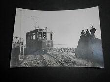 1915 FOTOGRAFIA LINEA TRANVIA CATANIA ACIREALE SICILIA