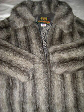 HANSA BRANTA Vtg 70s GOOSE DOWN PLUSH FUR JACKET COAT Intuit Anorak Eskimo-M