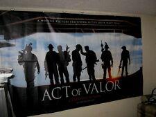 "Original ACT OF VALOR Huge Vinyl Banner 72"" x 120"" NAVY SEALS no hard creases"