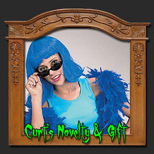 NEON BLUE PAGEBOY WIG Costume Halloween Party Rave