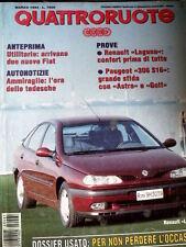 Quattroruote 461 1994 Peugeot 306 S16 sfida Astra e Golf - Renault Laguna  [Q53]