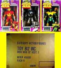 "Toy Biz Marvel 10"" Iron Man + War Machine + Mandarin New 1994 Poseable"