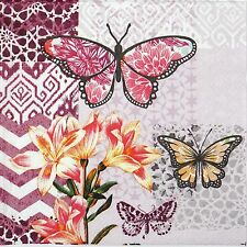 4x Paper Napkins -Garden of Joy- for Party, Decoupage Craft