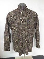 Vintage Chaps Ralph Lauren Size XL 100% Cotton Geometric L/S Shirt Button Front