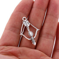 10pcs Tibetan Silver Bow&Crossbow Pendant Charms Bead 36*25mm Fit DIY Jewelry