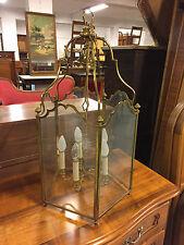 Lanterne lustre style Louis XIV en bronze.