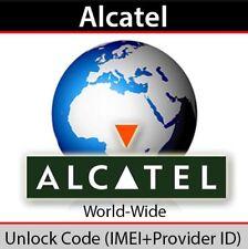 Unlock Code Vodafone Alcatel 10.52 1052 1052G Unlocking Network  Pin Fast