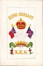 World War 1 Regimental Silk. 10th Royal Hussars, The Prince of Wales' Own.