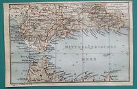 """1934 MAP 4 x 6"""" (10 x 15 cm) - STRAIT of GIBRALTAR Coast of Spain Mediterranean"""