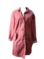 Womens Liz Claiborne Crazy Horse Reversible Trench Coat Pink & Floral Size XL