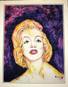 Surrealism painting of Marilyn Monroe, size width 16, length 20