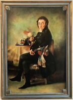 Francisco de Goya Portrait Ferdinand Guillemardet peinture 1m17cm par 81c COPIE