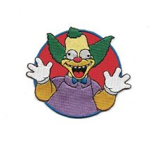 """The Simpsons Krusty The Clown Laughing Face Embroidered 3.5"""" Iron/Sew On Patch"""