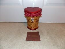 * Longaberger * 2008 Sweetheart True Love Basket, Lid, Liner, Protector, Tie-On
